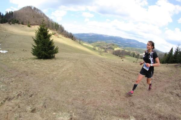 Anna Kącka podczas biegu w Szczawnicy (fot. arch. Anna Kącka)