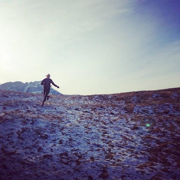 Anna Kącka podczas zimowego biegania (fot. Anna Kącka)