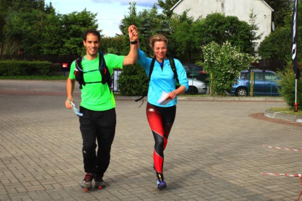 Radość z ukończenia trasy - 25 km w nogach