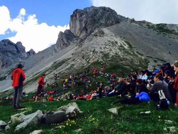 Markus Stockhausen i Tara Bouman na górskiej scenie