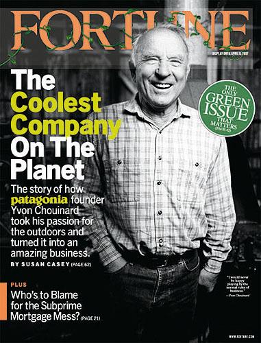 """Okładka Fortune, kwiecień 2007, numer specjalny """"The Green Issue"""" (fot. Patagonia)"""