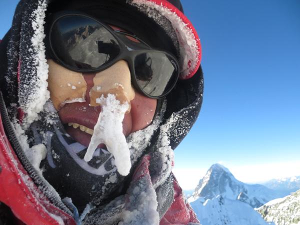 Wyprawa na Broad Peak 2013: Adam Bielecki na szczycie (fot. Adam Bielecki)