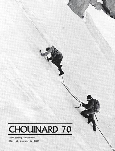 Reklama Chouinard Equimpment w Climbing Magazine w 1970 roku (fot. Climbing Magazine)