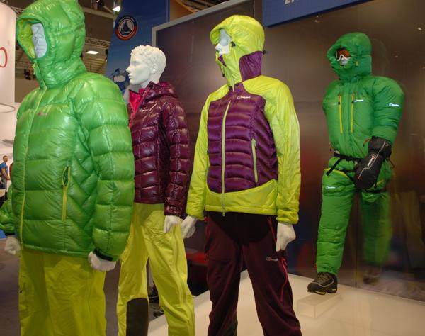 Nowa kolekcja kurtek puchowych marki Berghaus na targach ISPO MUNICH 2013 (fot. 4outdoor)