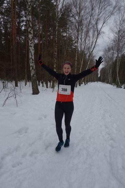 Bieg Łosia w wiosennych śniegach sprawiał zawodnikom dużo radości (fot. Ekobiegi)
