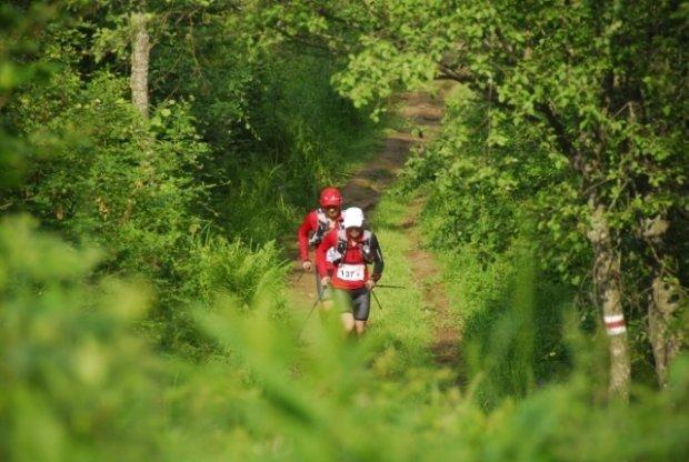 Bieg Rzeźnika 2012 - Marcin Świerc i Piotrek Hercog na trasie (fot. Monika Strojny)
