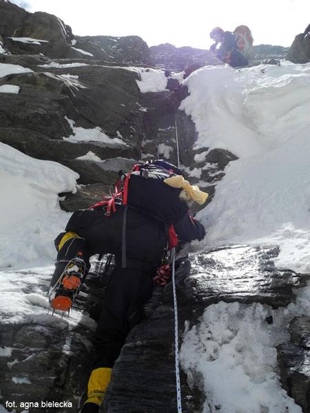 Wyprawa na Dhaulagiri 2013: trudności w Eigerze (fot. Agna Bielecka)