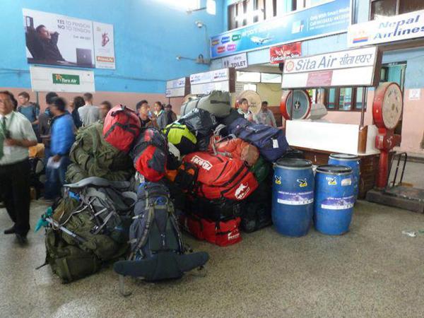 Na lotnisku w Katmandu (fot. arch. Kinga Baranowska)