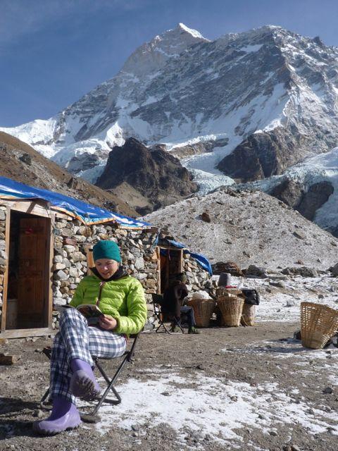 Kinga Baranowska w Bazie Hillaryego na wysokości 4800 m