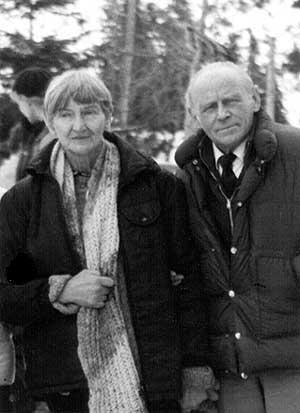 Morskie Oko, 23 listopada 1985. Wanda Henisz-Kamińska z Czesławem Łapińskim (fot. Józef Nyka)