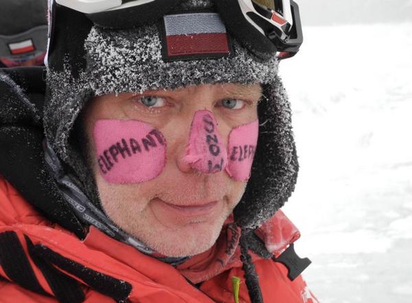 Artur Hajzer po zejściu do bazy (fot. Agna Bielecka)