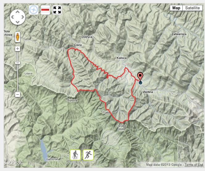 Maraton Bieszczadzki - trasa
