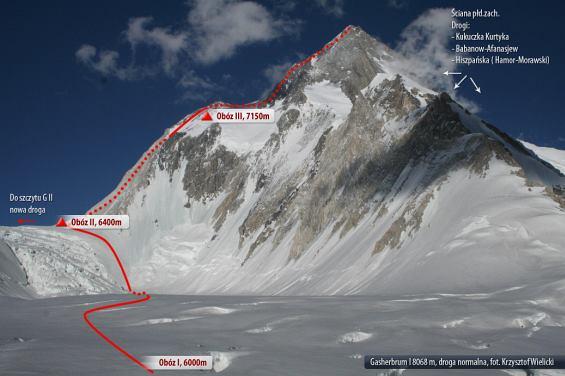 Gasherbrum I, droga normalna(fot. K. Wielicki)