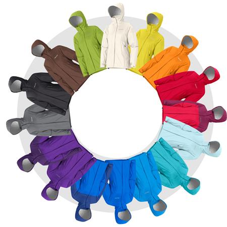 Odzież outdoorowa może być pełna koloru - tu propozycje od marki Marmot, barwy kurtki PreCip Marmot, kolory damskiego modelu kurtki PreCip