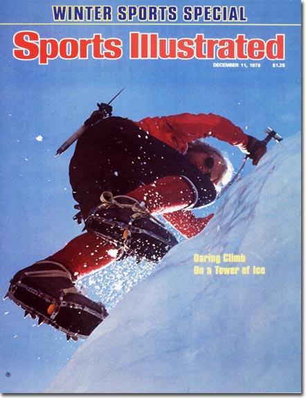 """Jeff Lowe na okładce jednego z najważniejszych amerykańskich magazynów sportowych """"Sport Illustrated"""", rok 1978"""