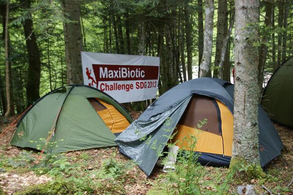 Fragment obozu wyprawy Maxibiotic Challange SDG 2013