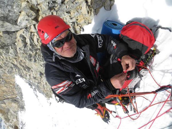 Maciej Berbeka poniżej obozu II (6300 m) (fot. Adam Bielecki)