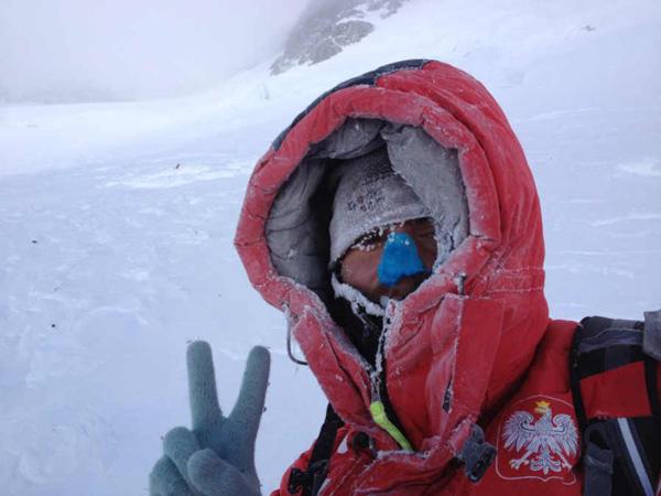 Tomasz Kowalski na wysokości 7600 m (fot. Artur Małek)