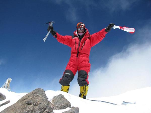Robert Szymczyk na szczycie Nanga Parbat (fot. Polski Himalaizm Zimowy)