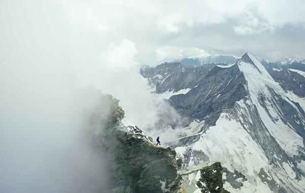 Kilian Jornet na Grani Lion na Matterhornie (fot. summitsofmylife.com)