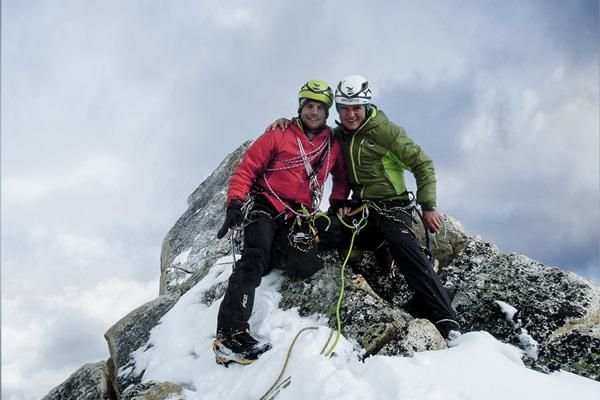 Na szczycie Arwa Spire (fot. Roger Schäli)