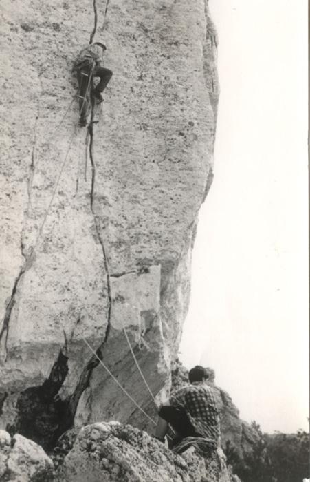 Wspinanie w skałkach Jury (ok. 1965) (fot. arch. M. i J. Kiełkowscy)