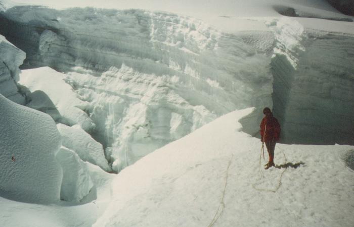 Małgorzata Kiełkowska w drodze na Nevado Ancocancha Central w Andach Peruwiańskich (1981 r.) (fot. arch. M. i J. Kiełkowscy)