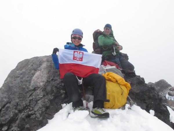 Iza Smołokowska na Carstensz Piramid w 2013 roku (fot. arch. Izabela Smołokowska)