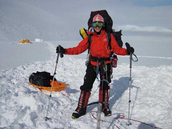 W drodze na Mt. Vinson w 20120 roku (fot. arch. Izabela Smołokowska)