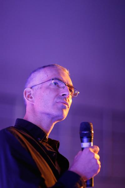 Rafał Sławiński na 11. Krakowskim Festiwalu Górskim (fot. Wojtek Lembryk/KFG)