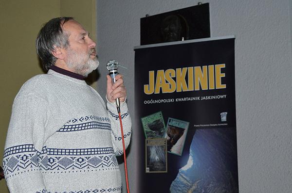 Gościem festiwalu był jeden z najbardziej wybitnych eksploratorów jaskiń na świecie, Andrzej Ciszewski (fot. Sławomir Oboda)
