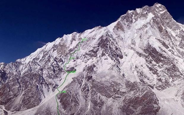 Sytuacja na Nanga Parbat sprzed 20 stycznia (fot. simonemoro.com)