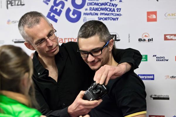 Wspólne zdjęcia - Rafał z Arturem Małkiem (fot. Lesław Włodarczyk)