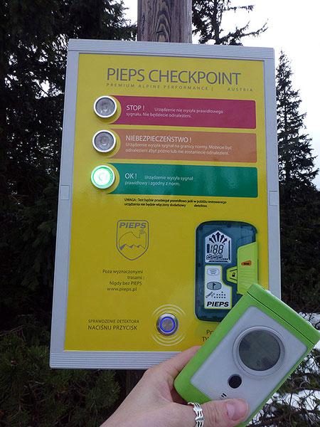 Check point na Hali Gąsienicowej