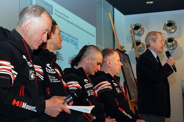 Od lewej: Krzysztof Wielicki, Adam Bielecki, Artur Małek, Artur Hajzer i Janusz Onyszkiewicz (fot. Janusz Kurczab)