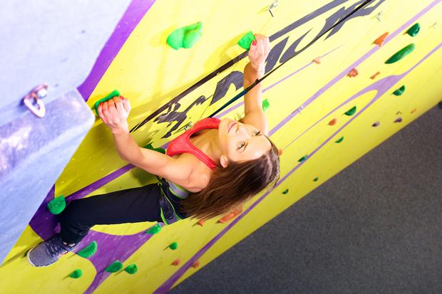 Ewa Chodakowska na ścianie wspinaczkowej Mural (fot. adidas)