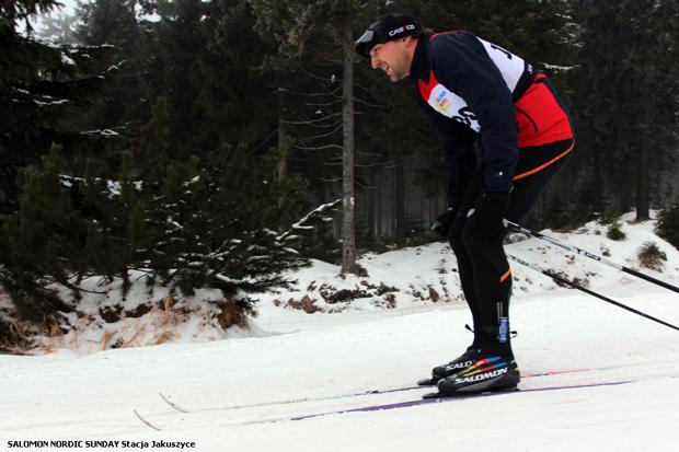 Marek Nadachowski – dwukrotnie trzeci w naszej klasyfikacji rodzinnej, zarówno w klasyku, jak i łyżwie (fot. Stacja Jakuszyce)