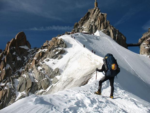 Tomek w Alpach (źródło: Zimowy Ultramaraton Karkonoski im. Tomka Kowalskiego)