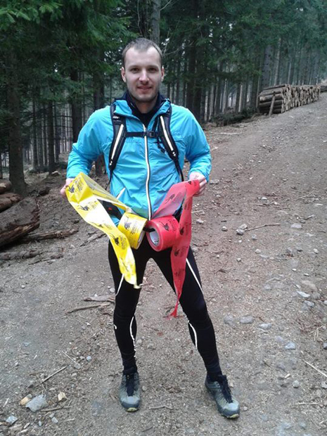 Żółta - biegnie dobrze; Czerwona - biegniemy źle (fot. organizatora biegu)