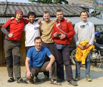 Uczestnicy wyprawy Kangchenjunga North Face Expedition 2014 (fot. arch. Denis Urubko)