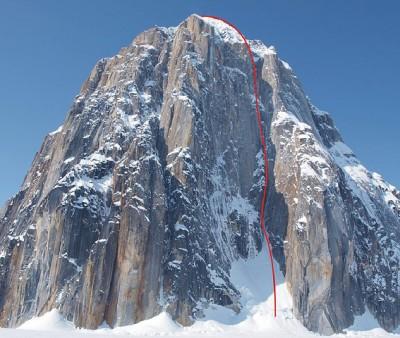 Cel wyprawy i planowana, wymarzona linia drogi na Mount Dickey