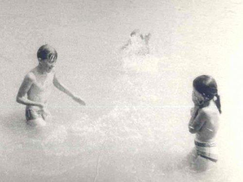 1987, Denis z siostrą Ludmiłą