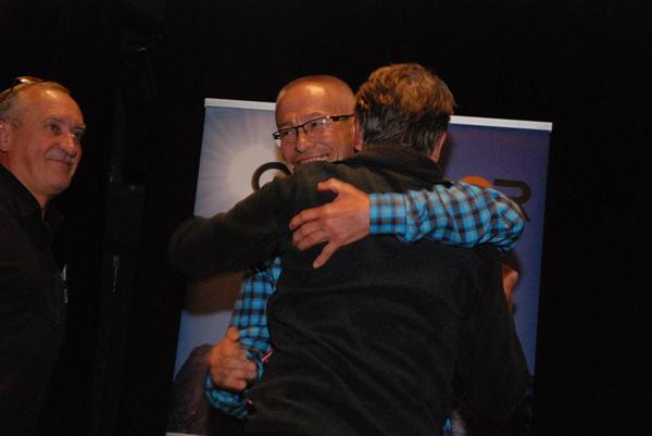 Spotkania: Krzysztof Wielicki, Peter Habeler i Piotr Pustelnik (fot. Sebastian Płocharski)