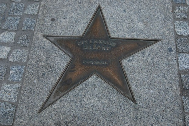 Gwiazda Sir Edmunda Hillary'ego w Alei Gwiazd Sportu (fot. Michał Kochańczyk)