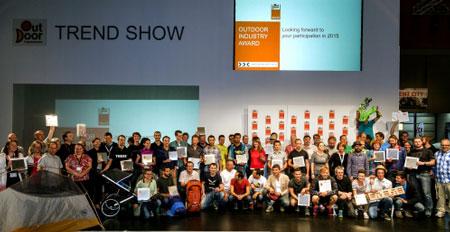 Wszyscy zwycięzcy konkursu OutDoor Industry Award 2014 (fot. OutDoor Show)
