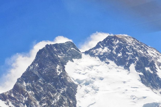Górne partie zach. flanki Broad Peak Main i Broad Peak Middle (fot. 4×8000.blogspot.com)