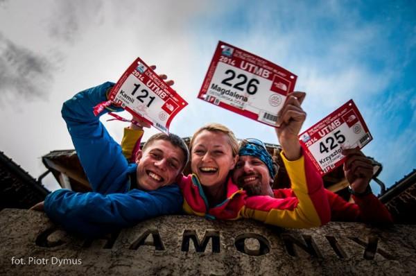 Magda Krzysiek i Kamil w Chamonix UTMB 2014