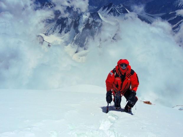 Janusz Gołąb podczas wyprawy na K2 (fot. arch. J. Gołąb)