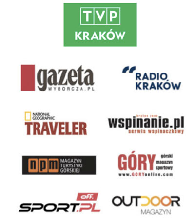 Główni patroni medialni 12. Krakowskiego Festiwalu Górskiego