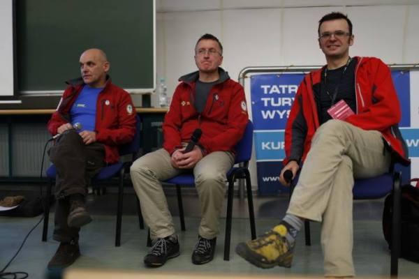 Panel TOPR i PZA, od lewej Andrzej Maciata, Jan Krzysztof oraz Bogusław Kowalski (fot. Wojciech Lembryk)